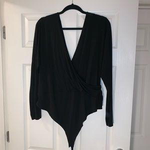 ASOS Long Sleeved Cross Bodysuit